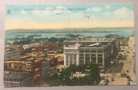 Portion of Business Section SAN DIEGO CA early divided postcard c.1925