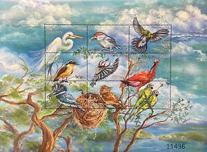 BHUTAN BIRDS OF THE WORLD STAMPS 1999 MNH WILDLIFE PARAKEET EGRET KINGFISHER