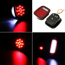 2x Red/W Universal Truck Boat 39 LED Stud Mount Combination Stop Turn Tail Light