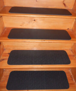 """13 STEP 9"""" x 30'' + 30'' x 30''  100% Rubber  Out/Indoor Stair Treads Non Slip ."""