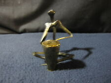 Metal Nail Sculpture - Man Playing Drum - Includes Shipping!