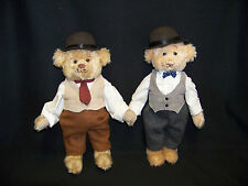 LAUREL AND HARDY BEARS BY COOPERSTOWN BEARS