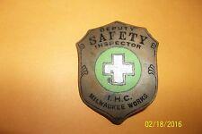 WWII Aeronautical Airplane Factory Plant Police Badge Enamel international
