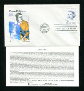 Sc. 2749 Grace Kelly FDC - Cover Craft