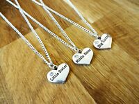 Big sister Little sister Middle sister necklace silver plated birthday xmas gift