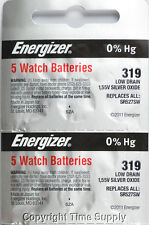 10 pcs 319 Energizer Watch Batteries SR527SW SR527 0%HG