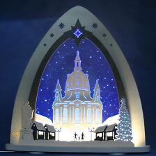 LED-Schwibbogen Lichterspitze Dresdener Frauenkirche Dresden Weigla Erzgebirge