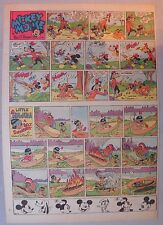 Mickey Mouse Sunday Page by Walt Disney from 12/21/1941 Tabloid Page Size