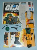 1989 GI Joe Combat Specialist Scoop v1 Figure w/ File Card Back *Near Complete