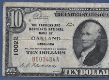 NE 1929  $10  ♚♚OAKLAND,NEBRASKA♚♚ PCGS FINE 15    HARD TO FIND!!!