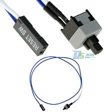 """25"""" PC Reset Switch Cable On Off Computer 2 Pins Cord Replacement Connector Wire"""