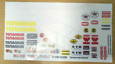 NEW Kyosho 30615 Tomahawk (2015) Decals / Sticker sheet - Reproduction