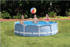 "Intex 10' x 30"" Prism Steel Frame Above Ground Swimming Pool Set w/ Filter Pump"