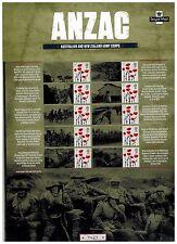 Anzag Australia e Nuova Zelanda army commemorativo Smilers foglio di Royal Mail