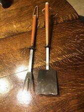 Vintage Ranger Grill Fork & Spatula Mr. Cheftender Stainless Steel Usa Wood