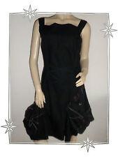 C - Magnifique Robe Fantaisie Asymétrique Noire Iconoclast Taille 38