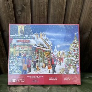 WH Smith 1000 Piece Christmas Shopping Jigsaw Puzzle New Sealed Beatrice Grieco