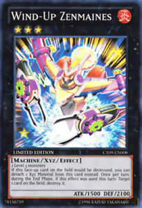 YUGIOH Card Wind-Up Zenmaines Super Rare CT09-EN008 Limited Edition