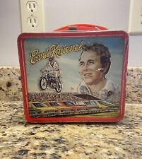 Vintage RARE Evel Knievel Lunch Box 1974 Metal Aladdin 70s