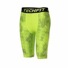 Adidas Uomo Pantaloni funzionali Techfit Chill Breve Stretto Verde / Aj4941 M
