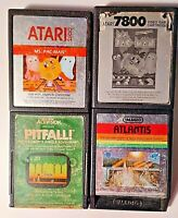 Lot Atari Game AS-IS  Ms PacMan 7800 & 2600, Pitfall, Atlantis - Used