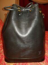 Authentic Louis Vuitton Noe Epi Leather Bucket Bag - Black