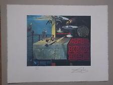 """Lithographie , Salvador Dali  """" Nature Morte Vivante """" , signée et numérotée"""