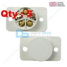 5 Burglar Alarm Door Contacts, White Flush Speedfit Magnetic Reed Contact Type.