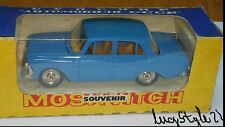 MOSKVITCH 408 A1 CAR TOY 71 SOVIET RUSSIA CCCP USSR SOUVENIR  ORIGINAL BOX 1/43