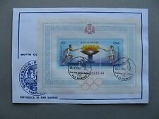SAN MARINO, cover CTO 1997, S/S Olympic Games Los Angeles 1984