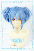 Cosplay Assassination Classroom Shiota Nagisa Ice Blue Two horsetail Anime Wigs
