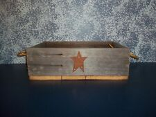 Handcrafted Century Old Barnwood Tray with Rope Handles