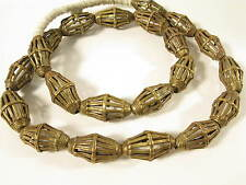 Großes Lot Messingperlen L3 Gelbguß Ghana Brass Beads Ashanti Akan Afrozip