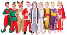 BOYS CHRISTMAS COSTUMES CHILDS ELF SANTA REINDEER NATIVITY XMAS FANCY DRESS