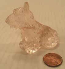 Scottie Terrier Westie Dog PINK Glass Mini Figure Puppy Pet Collectible Gift New