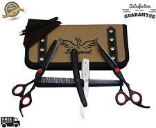 Professional Barber Shears Hair Cutting & Thinning Scissors Hairdressing Set 6.5
