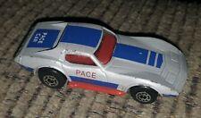 MATCHBOX SILVER CHEVROLET CORVETTE PACE CAR MB21-D2 LOOSE vintage toy CLEAN