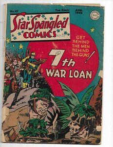 STAR SPANGLED COMICS 47 - G- 1.8 - LIBERTY BELLE - STAR SPANGLED KID (1945)