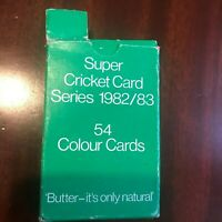 Vintage Butter Cricket Card Collection 1982 1983 Season 54 Cards
