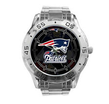 New England Patriots NFL Stainless Steel Analogue Men's Watch Gift