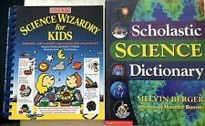 2 BARRON'S SCIENCE WIZARDRY FOR KIDS & SCHOLASTIC SCIENCE DICTIONARY HOMESCHOOL