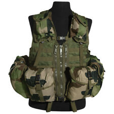 TACTICAL COMBAT VEST MODULAR MOLLE SYSTEM 8 POCKETS AIRSOFT FRENCH ARMY CCE CAMO