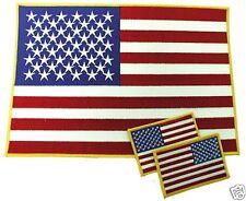 "Large American Flag Biker Patch-Star Field Left 11 3/4"" X 8 1/4"""