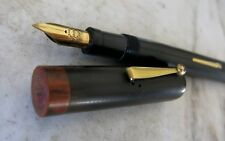 GRAND STYLO PLUME VINTAGE CARDINAL A LEVIER - PLUME EN OR MASSIF 18 CARATS