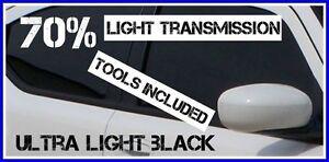 ULTRA LIGHT BLACK 30% ROAD LEGAL  CAR WINDOW TINT FILM 6m X 75cm+ FREE KIT