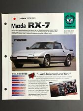 "1978 - 1985 Mazda RX-7 Coupe IMP ""Hot Cars"" Spec Sheet Folder Brochure Awesome"