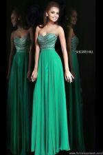 Sherri Hill Prom Dress, Emerald Green, size 0-4