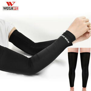 Bicycle Cycling Arm Sleeves Leg Covers Protective Anti-UV Running Bike Protector