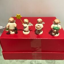 Set of 4 Austrian Hand Carved Christmas Figurines