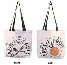 Reusable Grocery Bag Shopping Tote 12 oz Cotton Canvas USA MADE - Farm to Table